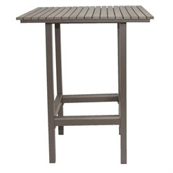 Patio Heaven Riviera Square Patio Pub Table in Gray