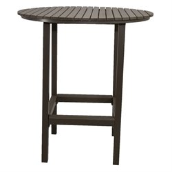 Patio Heaven Riviera Round Patio Pub Table in Gray