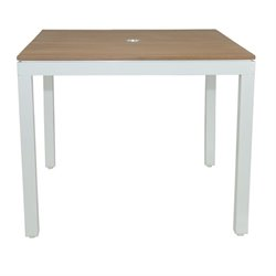Patio Heaven Riviera Square Patio Dining Table in White