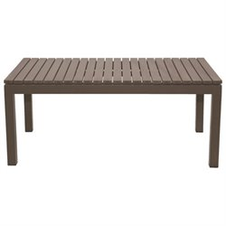 Patio Heaven Riviera Patio Coffee Table in Gray