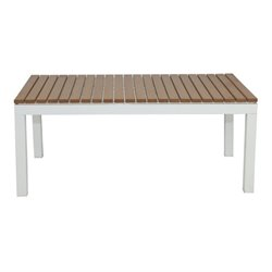 Patio Heaven Riviera Patio Coffee Table in White