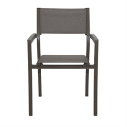 Patio Heaven Riviera Patio Dining Chair in Gray