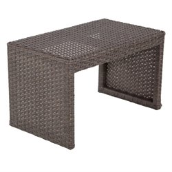 Patio Heaven Signature Patio End Table in Espresso