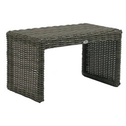 Patio Heaven Palisades Patio End Table in Gray