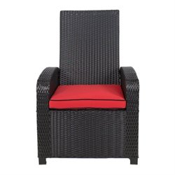 Patio Heaven Santa Fe Patio Chair in Black