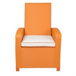 Patio Heaven Santa Fe Patio Chair in Orange