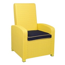 Patio Heaven Santa Fe Patio Chair in Yellow