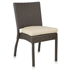 Patio Heaven Zuma Patio Dining Chair in Espresso