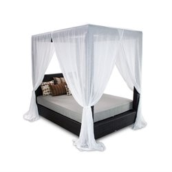 Patio Heaven Signature Patio Canopy Bed in Espresso