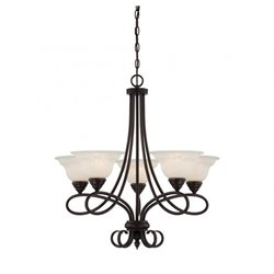 Savoy House Oxford 5 Light Chandelier in English Bronze