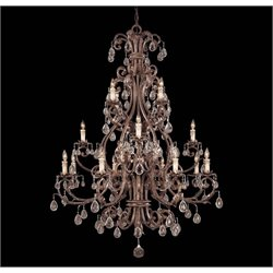 Savoy House Chastain 16 Light Chandelier in New Tortoise Shell with Silver