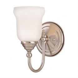 Savoy House Brunswick Bath 1 Light Sconce in Satin Nickel