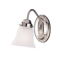 Savoy House Brighton 1 Light Sconce in Satin Nickel