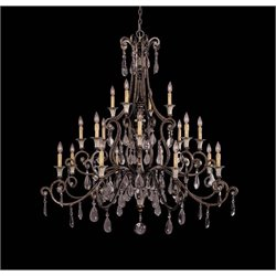Savoy House St. Laurence 20 Light Chandelier in New Tortoise Shell with Silver