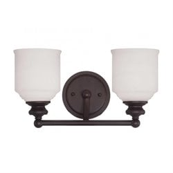 Savoy House Melrose 2 Light Bath Bar in English Bronze