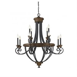 Savoy House Wickham 12 Light Chandelier in Whiskey Wood