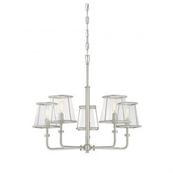 Savoy House Damascus 5 Light Chandelier in Satin Nickel