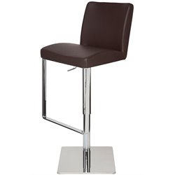 Nuevo Matteo Adjustable Leather Bar Stool