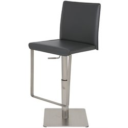 Nuevo Kailee Adjustable Leather Bar Stool