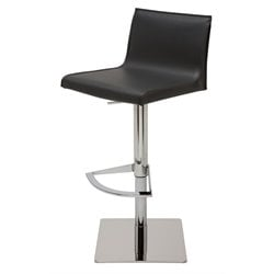 Nuevo Colter Adjustable Leather Bar Stool