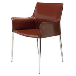 Nuevo Colter Leather Dining Arm Chair