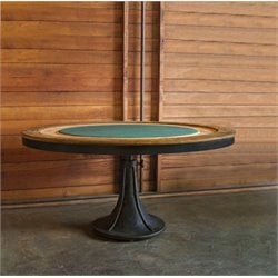 Nuevo Round Poker Table in Raw Oak