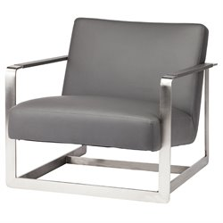 Nuevo Suza Faux Leather Accent Chair