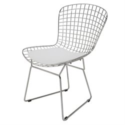 Nuevo Wireback Metal Dining Chair