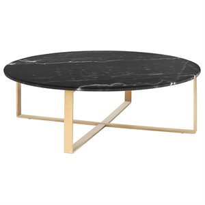 Nuevo Rosa Round Marble Top Coffee Table