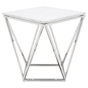 Nuevo Jasmine Square Marble Top End Table