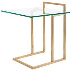 Nuevo Enna Glass Top End Table