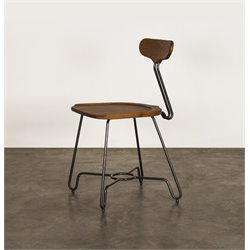 Nuevo Troy Dining Side Chair in Fumed