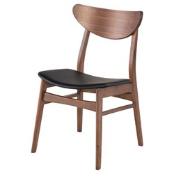 Nuevo Colby Dining Side Chair in Walnut and Black
