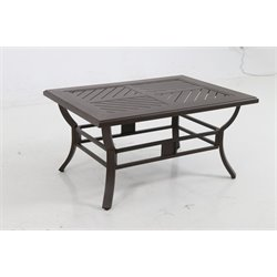 Sunvilla Allegro Patio Coffee Table in Gray