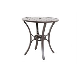 Sunvilla Riva Round Patio Pub Table in Gray