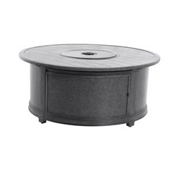 Sunvilla Belize Round Patio Fire Pit Table in Slate