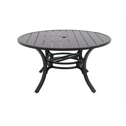Sunvilla Laurel Round Patio Dining Table in Gray
