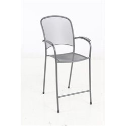 Sunvilla Monaco Patio Bar Stool in Graphite
