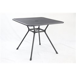 Sunvilla Square Steel Dining Table in Graphite