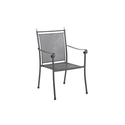 Sunvilla Victoria Stacking Patio Dining Chair in Graphite