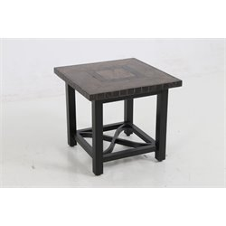 Sunvilla Pennant Square Patio End Table in Mahogany