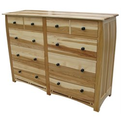 A-America Adamstown 8 Drawer Dresser in Natural