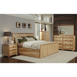 A-America Adamstown 6 Piece Queen Storage Bedroom Set in Natural