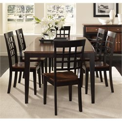 A-America Bristol Point 7 Piece Dining Set in Espresso