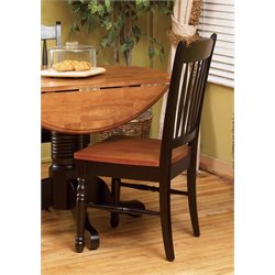 A-America British Isles Slatback Dining Chair in Espresso