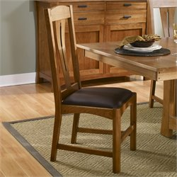 A-America Cattail Bungalow Dining Chair in Warm Amber