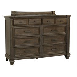 A-America Gallatin 8 Drawer Dresser in Mahogany