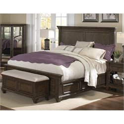 A-America Gallatin Queen Panel Storage Bed in Mahogany