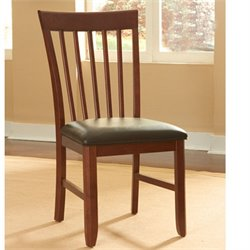 A-America Granite Convertible Slatback Dining Chair in Brown