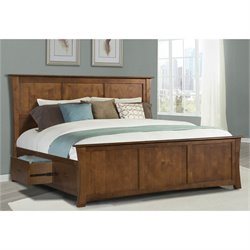 A-America Grant Park King Panel Storage Bed in Pecan